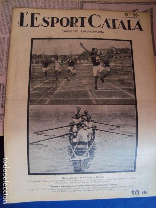 Coleccionismo deportivo: (F-210355)LOTE DE 62 EJEMPLARES L´SPORT CATALA - AÑOS 20 - JOAN GAMPER,SAMITIER,ALCANTARA,ETC. - Foto 48 - 248598965
