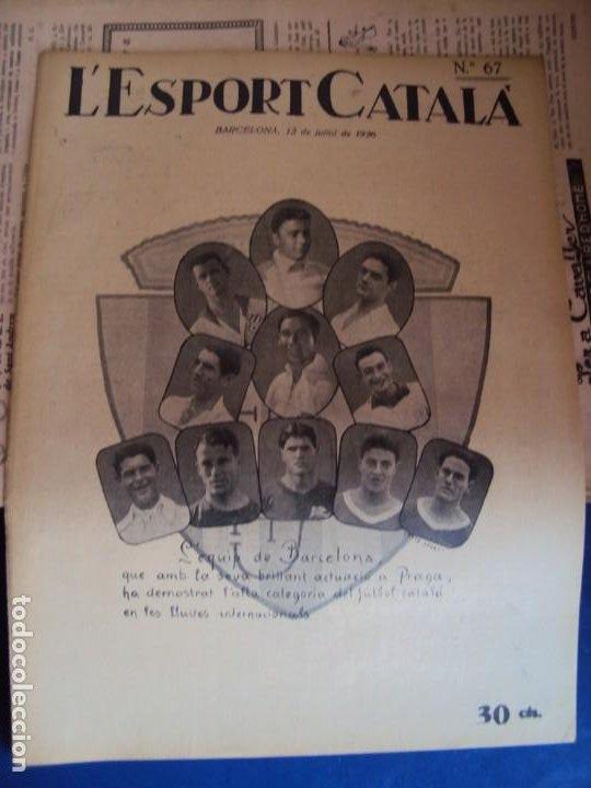 Coleccionismo deportivo: (F-210355)LOTE DE 62 EJEMPLARES L´SPORT CATALA - AÑOS 20 - JOAN GAMPER,SAMITIER,ALCANTARA,ETC. - Foto 49 - 248598965