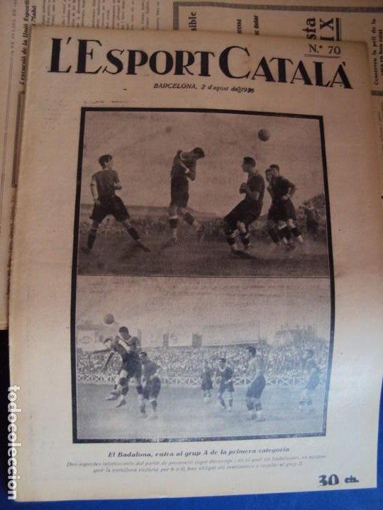 Coleccionismo deportivo: (F-210355)LOTE DE 62 EJEMPLARES L´SPORT CATALA - AÑOS 20 - JOAN GAMPER,SAMITIER,ALCANTARA,ETC. - Foto 51 - 248598965