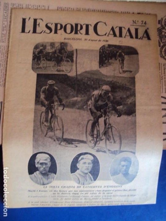 Coleccionismo deportivo: (F-210355)LOTE DE 62 EJEMPLARES L´SPORT CATALA - AÑOS 20 - JOAN GAMPER,SAMITIER,ALCANTARA,ETC. - Foto 53 - 248598965