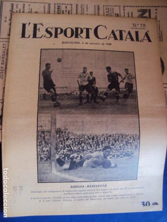 Coleccionismo deportivo: (F-210355)LOTE DE 62 EJEMPLARES L´SPORT CATALA - AÑOS 20 - JOAN GAMPER,SAMITIER,ALCANTARA,ETC. - Foto 54 - 248598965