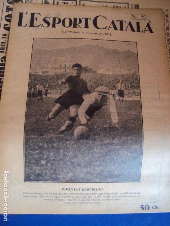 Coleccionismo deportivo: (F-210355)LOTE DE 62 EJEMPLARES L´SPORT CATALA - AÑOS 20 - JOAN GAMPER,SAMITIER,ALCANTARA,ETC. - Foto 56 - 248598965