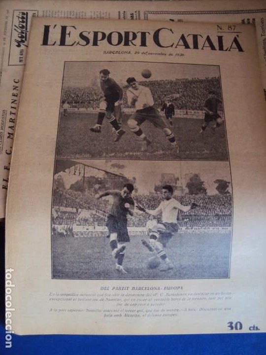 Coleccionismo deportivo: (F-210355)LOTE DE 62 EJEMPLARES L´SPORT CATALA - AÑOS 20 - JOAN GAMPER,SAMITIER,ALCANTARA,ETC. - Foto 59 - 248598965