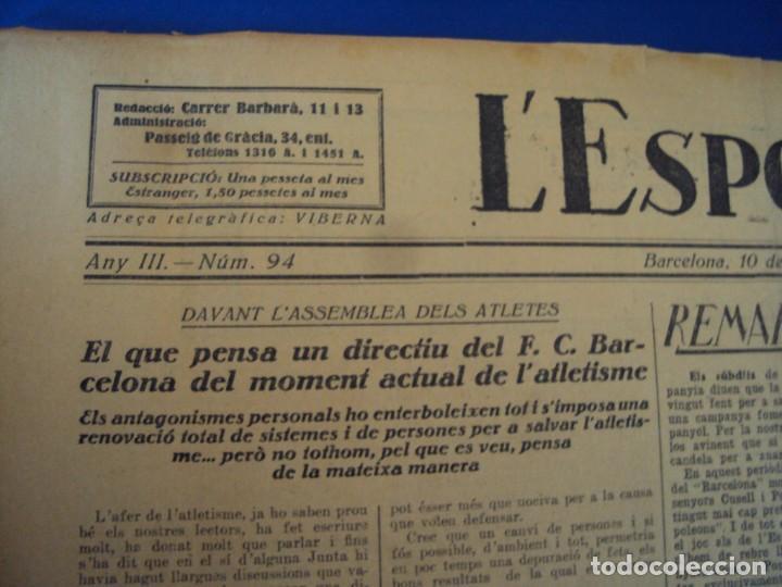 Coleccionismo deportivo: (F-210355)LOTE DE 62 EJEMPLARES L´SPORT CATALA - AÑOS 20 - JOAN GAMPER,SAMITIER,ALCANTARA,ETC. - Foto 61 - 248598965