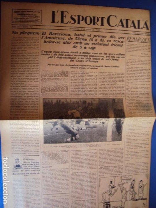 Coleccionismo deportivo: (F-210355)LOTE DE 62 EJEMPLARES L´SPORT CATALA - AÑOS 20 - JOAN GAMPER,SAMITIER,ALCANTARA,ETC. - Foto 63 - 248598965