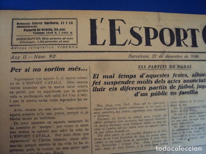 Coleccionismo deportivo: (F-210355)LOTE DE 62 EJEMPLARES L´SPORT CATALA - AÑOS 20 - JOAN GAMPER,SAMITIER,ALCANTARA,ETC. - Foto 66 - 248598965
