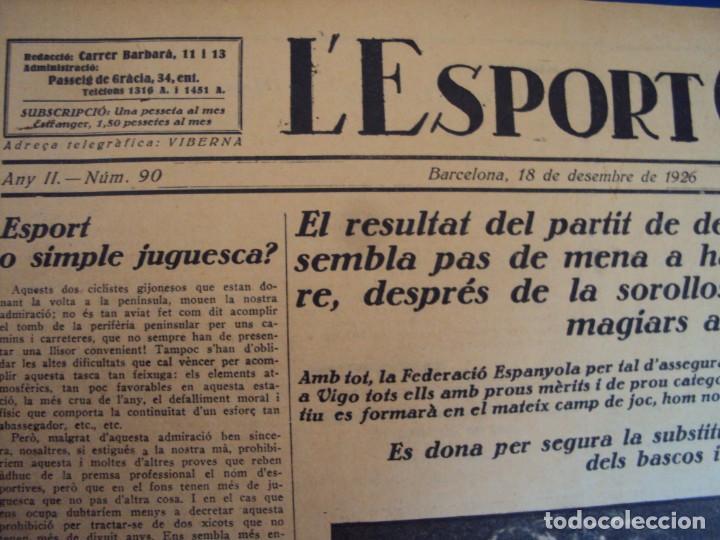 Coleccionismo deportivo: (F-210355)LOTE DE 62 EJEMPLARES L´SPORT CATALA - AÑOS 20 - JOAN GAMPER,SAMITIER,ALCANTARA,ETC. - Foto 68 - 248598965