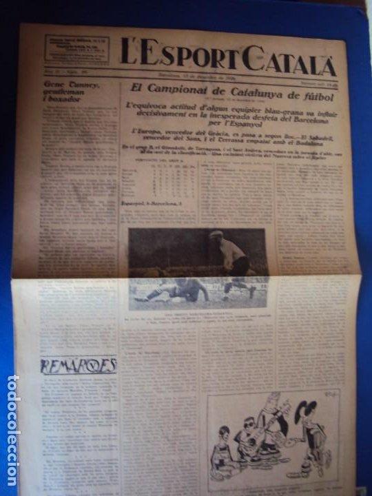 Coleccionismo deportivo: (F-210355)LOTE DE 62 EJEMPLARES L´SPORT CATALA - AÑOS 20 - JOAN GAMPER,SAMITIER,ALCANTARA,ETC. - Foto 69 - 248598965