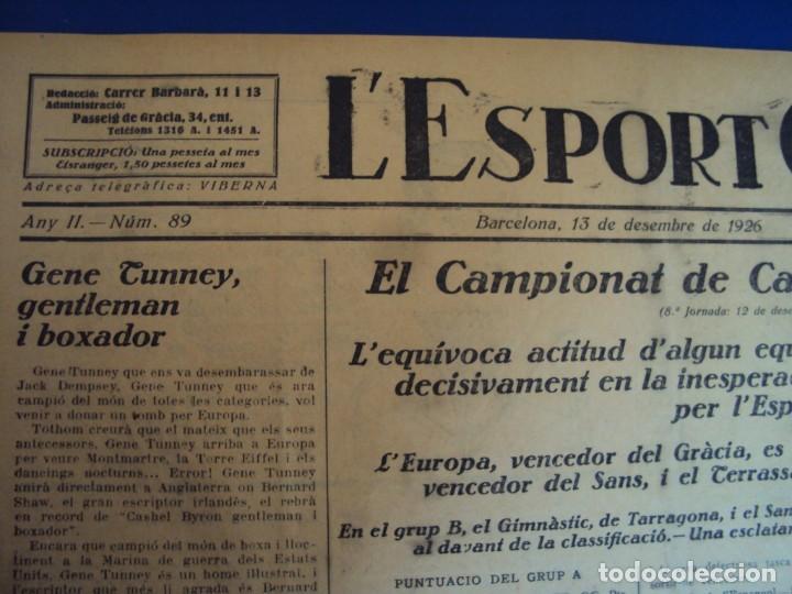 Coleccionismo deportivo: (F-210355)LOTE DE 62 EJEMPLARES L´SPORT CATALA - AÑOS 20 - JOAN GAMPER,SAMITIER,ALCANTARA,ETC. - Foto 70 - 248598965
