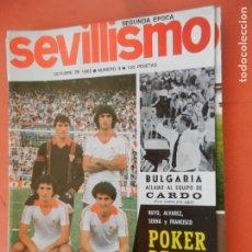Collectionnisme sportif: SEVILLISMO REVISTA Nº 9 - OCTUBRE 1982 - BUYO , ALVAREZ , SERNA , FRANCISCO POKER DE ASES. Lote 248625920
