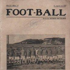 Coleccionismo deportivo: FOOT BALL 15 AGOSTO 1918 - REAL VIGO S.C.. Lote 248756220