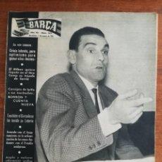Colecionismo desportivo: REVISTA BARÇA AÑO COMPLETO - AÑO VII 1961 , NÚMS. 265 AL 317. Lote 249178585