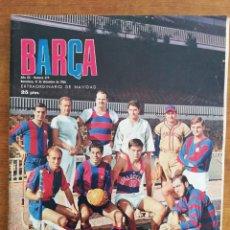 Colecionismo desportivo: REVISTA BARÇA AÑO COMPLETO - AÑO XII 1966 , NÚMS. 529 AL 580. Lote 249520885