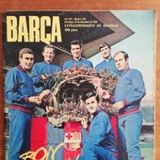 Colecionismo desportivo: REVISTA BARÇA AÑO COMPLETO - AÑO XIV 1968 , NÚMS. 633 AL 684. Lote 249521565
