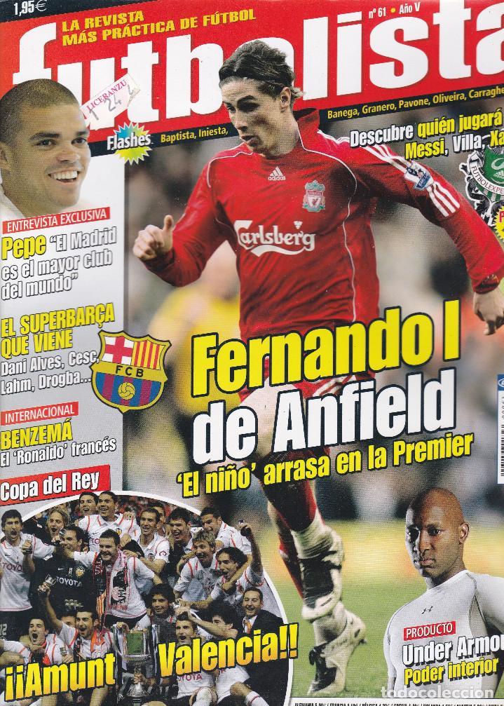 """REVISTA FUTBOLISTA : FERNANDO I DE ANFIELD, """"EL NIÑO"""" ARRASA EN LA PREMIER. (Coleccionismo Deportivo - Revistas y Periódicos - otros Fútbol)"""