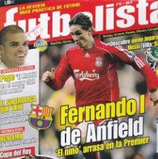 """Coleccionismo deportivo: REVISTA FUTBOLISTA : FERNANDO I DE ANFIELD, """"EL NIÑO"""" ARRASA EN LA PREMIER.. Lote 251212130"""