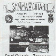 Collezionismo sportivo: FANZINE SYMMACHIARII 61 OVIEDO ULTRAS HOOLIGANS. Lote 251380140