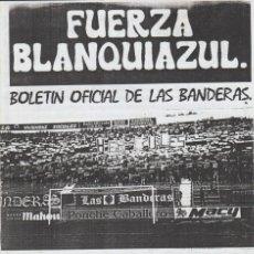 Collezionismo sportivo: FANZINE FUERZA BLANQUIAZUL 32 LAS BANDERAS HERCULÉS ULTRAS HOOLIGANS. Lote 251381450