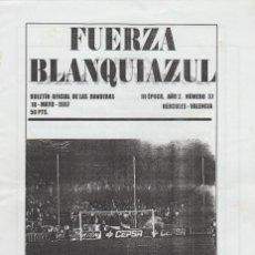Collezionismo sportivo: FANZINE FUERZA BLANQUIAZUL 37 LAS BANDERAS HERCULÉS ULTRAS HOOLIGANS. Lote 251381885