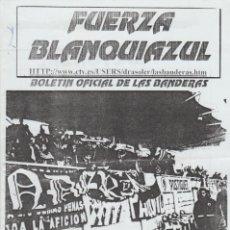 Collezionismo sportivo: FANZINE FUERZA BLANQUIAZUL 60 LAS BANDERAS HERCULÉS ULTRAS HOOLIGANS. Lote 251382475