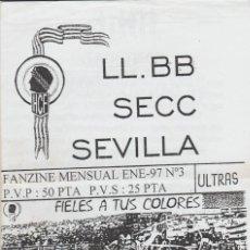Collezionismo sportivo: FANZINE LAS BANDERAS SECCIÓN SEVILLA ENERO 97 HÉRCULES ULTRAS HOOLIGANS. Lote 251382865