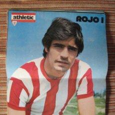 Coleccionismo deportivo: ATHLETIC CLUB-POSTER OFICIAL ROJO I (31X42 CTMS). Lote 251532500