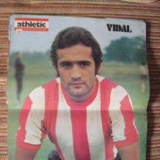 Coleccionismo deportivo: ATHLETIC CLUB-POSTER OFICIAL VIDAL (31X42 CTMS). Lote 251532860
