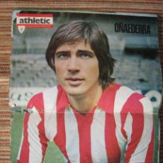 Coleccionismo deportivo: ATHLETIC CLUB-POSTER OFICIAL OÑAEDERRA (31X42 CTMS). Lote 251533565