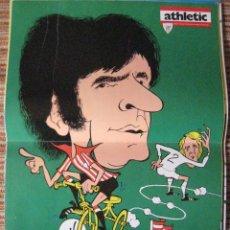 Coleccionismo deportivo: ATHLETIC CLUB-POSTER OFICIAL ROJO I-K.TOÑO HIJO (30X41 CTMS). Lote 251536160