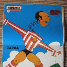 Coleccionismo deportivo: ATHLETIC CLUB-POSTER OFICIAL ZARRA-K.TOÑO FRADE (31X42 CTMS). Lote 251536475