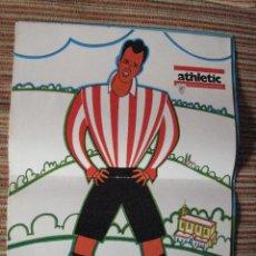 Coleccionismo deportivo: ATHLETIC CLUB-POSTER OFICIAL CARMELO GOYENECHEA-PISARRIN 76 (31X42 CTMS). Lote 251538180