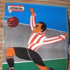 Coleccionismo deportivo: ATHLETIC CLUB-POSTER OFICIAL TRAVIESO-PISARRIN 75 (31X42 CTMS). Lote 251539395