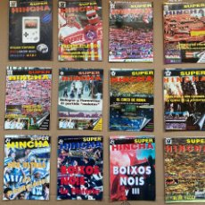 Collectionnisme sportif: 12 REVISTA SUPER HINCHA . HOOLIGANS. ULTRA . ULTRASSUR BOIXOS RIAZOR LIGALLO FRENTE ATLETICO. Lote 251853860