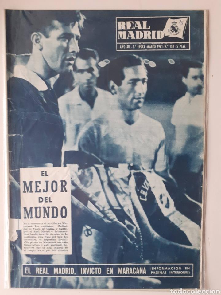 REVISTA OFICIAL DEL REAL MADRID. NUMERO 130 .MARZO DE 1961 (Coleccionismo Deportivo - Revistas y Periódicos - otros Fútbol)