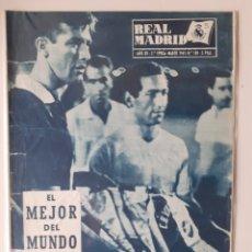 Collectionnisme sportif: REVISTA OFICIAL DEL REAL MADRID. NUMERO 130 .MARZO DE 1961. Lote 252396920
