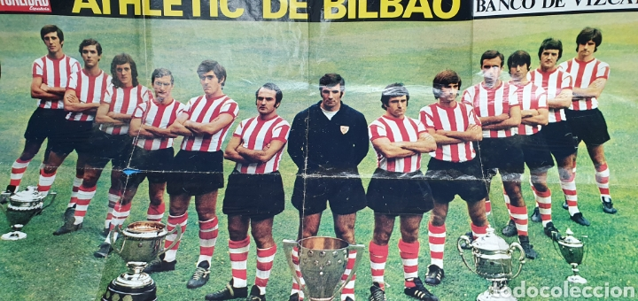 Coleccionismo deportivo: SUPER PÓSTER ATHLETIC DE BILBAO - 75 AÑOS DE FUTBOL 1898 - 1973 - LA ACTUALIDAD ESPAÑOLA - Foto 2 - 252913405