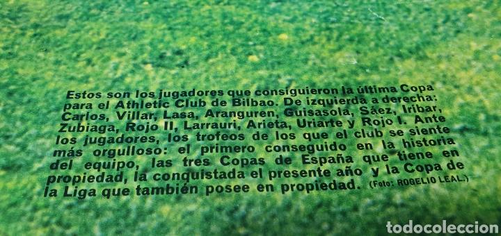 Coleccionismo deportivo: SUPER PÓSTER ATHLETIC DE BILBAO - 75 AÑOS DE FUTBOL 1898 - 1973 - LA ACTUALIDAD ESPAÑOLA - Foto 5 - 252913405