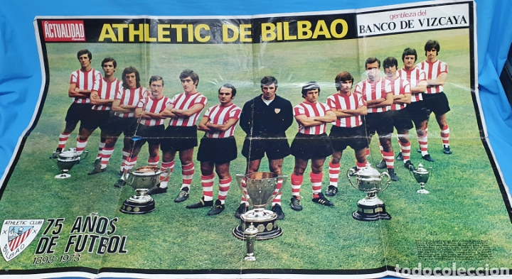 SUPER PÓSTER ATHLETIC DE BILBAO - 75 AÑOS DE FUTBOL 1898 - 1973 - LA ACTUALIDAD ESPAÑOLA (Coleccionismo Deportivo - Revistas y Periódicos - otros Fútbol)