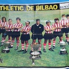 Coleccionismo deportivo: SUPER PÓSTER ATHLETIC DE BILBAO - 75 AÑOS DE FUTBOL 1898 - 1973 - LA ACTUALIDAD ESPAÑOLA. Lote 252913405