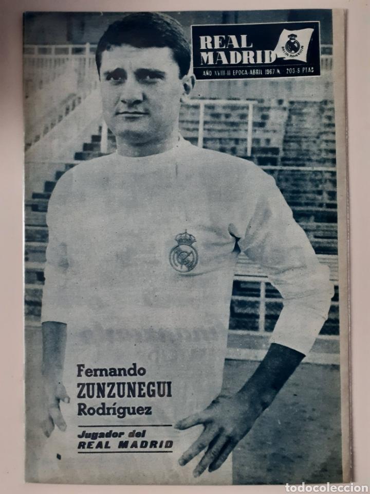 REVISTA OFICIAL DEL REAL MADRID. NÚMERO 203. FECHA ABRIL DE 1967 (Coleccionismo Deportivo - Revistas y Periódicos - otros Fútbol)