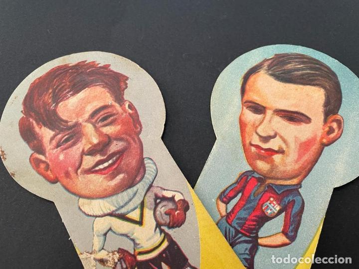 Coleccionismo deportivo: PAY - PAY (ABANICO) DE FUTBOL ZAMORA (FUTBOL C. BARCELONA) - PUBLICIDAD ANÍS ARAGON (MANUEL LALANA) - Foto 2 - 253248155