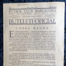 Collectionnisme sportif: BUTLLETI OFICIAL DEL FUTBOL CLUB BARCELONA -MARÇ - ABRIL 1922 - NOS: 14 - 15. Lote 253308610