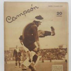 Collezionismo sportivo: REVISTA DE DEPORTES CAMPEON Nº 20 19-03-1933 URRESTI ARENAS, ESQUI GUADARRAMA,HOCKEY HIERBA. Lote 253811785