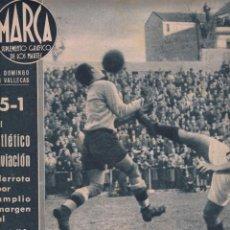 Coleccionismo deportivo: MARCA Nº 3 AÑO 1942 MADRID EL ATLÉTICO AVIACIÓN DERROTA AL CASTELLÓN 5-1 Y EL ESPAÑOL VENCE AL BETIS. Lote 254231985