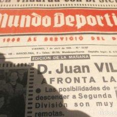 Coleccionismo deportivo: EL MUNDO DEPORTIVO ABRIL A JUNIO 1966 TOMO 61X43X5 ATLETICO DE MADRID LIGA REAL MADRID COPA EUROPA. Lote 254251365