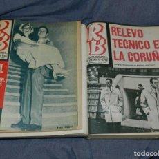 Coleccionismo deportivo: (MF) REVISTA RB REVISTA BARCELONISTA AÑO VI - DEL N.249 AL N.300, 2 VOLS, AÑO 1970. Lote 254359415