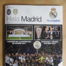 Colecionismo desportivo: REVISTA HALA MADRID Nº 64 - REAL MADRID - CRISTIANO Y ZIDANE, THE BEST 2017. Lote 254700160
