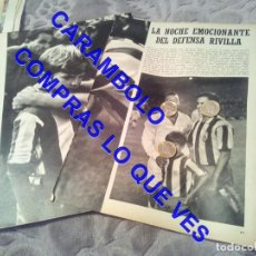 Coleccionismo deportivo: FELICIANO RIVILLA ATLETICO DE MADRID 2 FOTOS EN 2 HOJAS CLIPPING REVISTA LM1. Lote 254715630