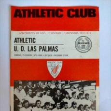 Coleccionismo deportivo: PROGRAMA ATHLETIC CLUB - U. D. LAS PALMAS TEMPORADA 1972 - 1973. Lote 254741365