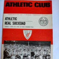 Coleccionismo deportivo: PROGRAMA ATHLETIC CLUB - REAL SOCIEDAD TEMPORADA 1972 - 1973. Lote 254743625